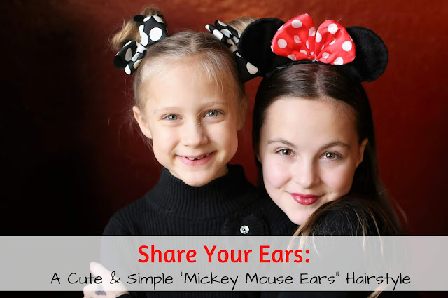 Share Your Ears! A Cute & Simple Mickey (or Minnie) Mouse Ears Hairstyle #hairstyles #mickeymouse #ShareYourEars