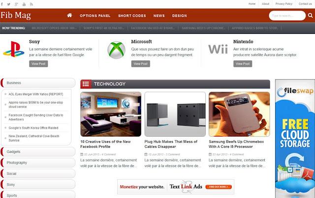 Template Blog Reponsive Tema Teknologi