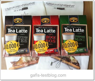 Krüger Tea Latte- Schwarz Tee, Rooi Bos und Pfeffer Minz