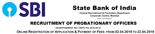SBI PO Notification 2019 Apply Online Now