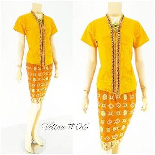 Model Baju Rok Blouse Batik Modern Velisa06 ungu