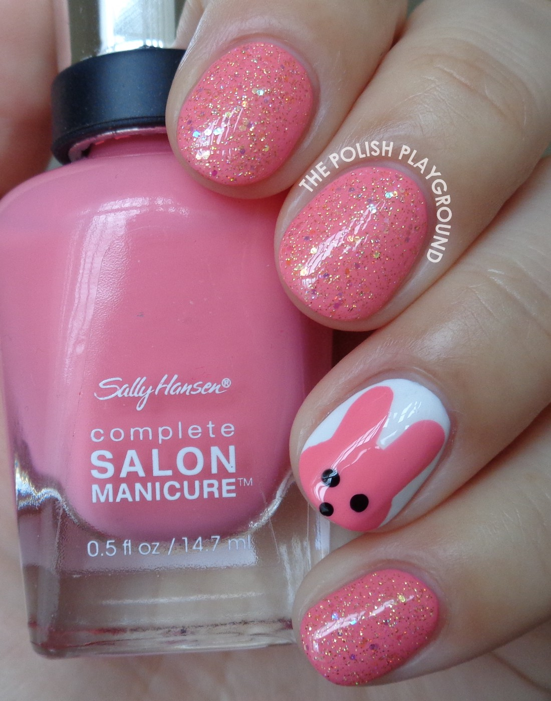 Tony Moly Petite Bunny Gloss Bar Inspired Nail Art