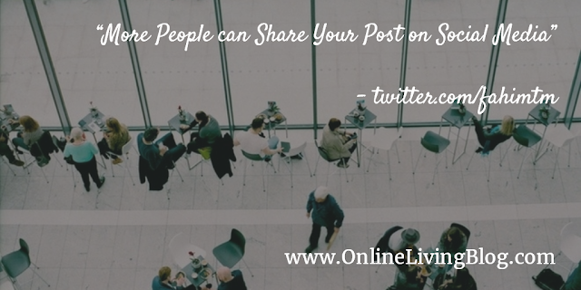 More People can Share Your Post on Social Media