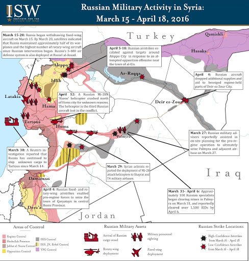 Russian Military Activity in Syria: March 15 – April 18, 2016