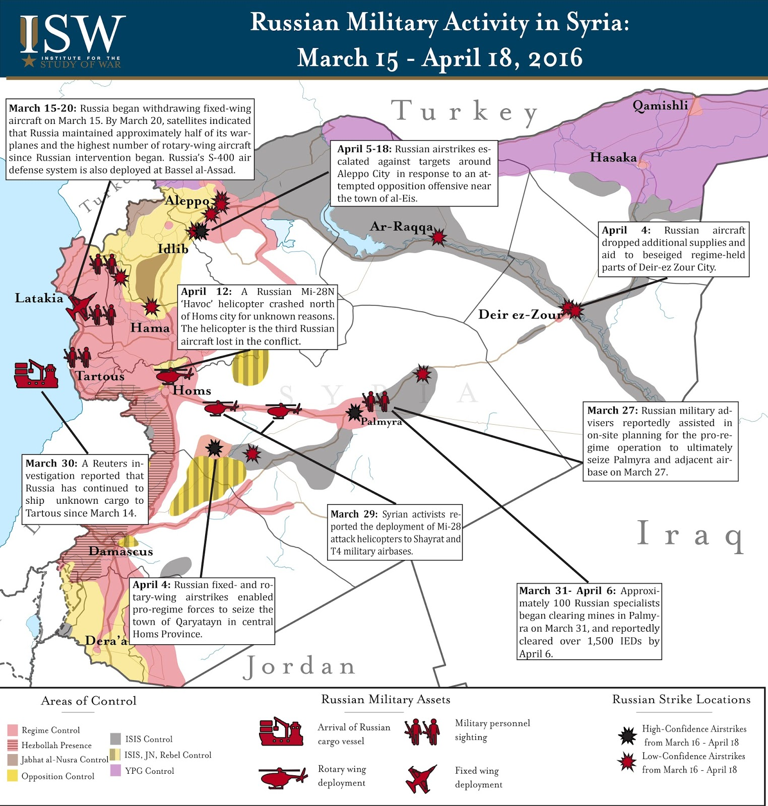 ISW Blog Russian Military Activity in Syria March 15 April 18 2016