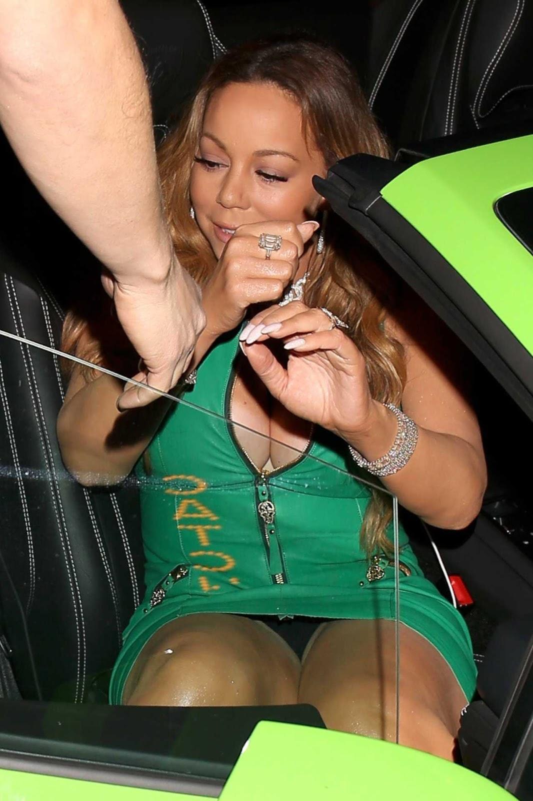 mariah carey upskirt vestido verde
