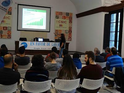 """Conferencia 5 de Abril 2016: """"CiberCiencia para ornitólogos. Aplicaciones de ciencia ciudadana"""". Grupo Local SEO-Sevilla."""