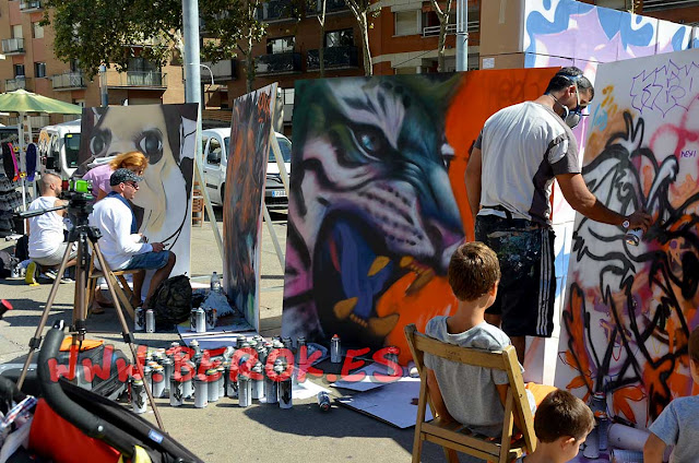 Exhibición de graffiti NBQ , sav45, Berok y muchos más artistas