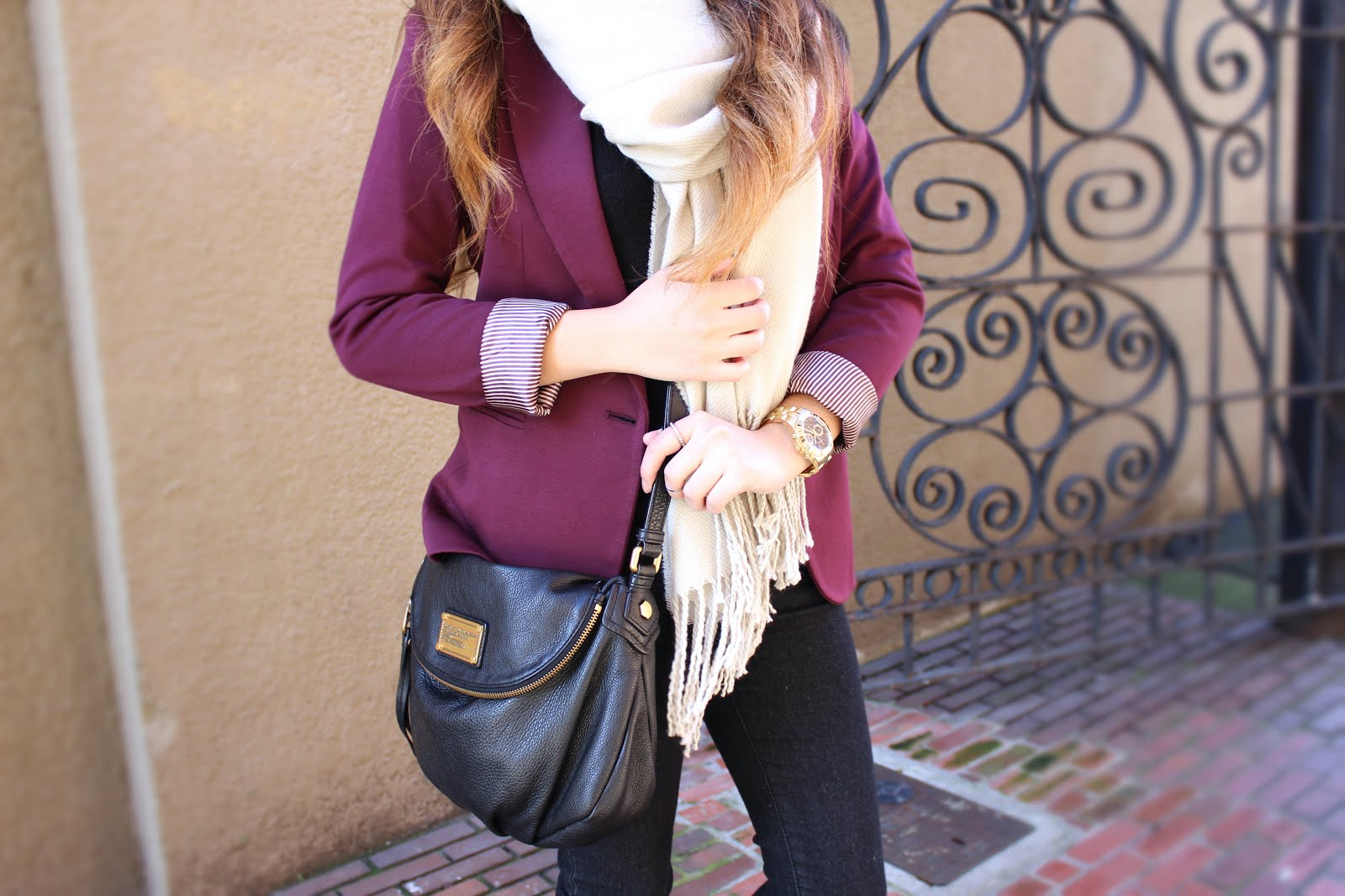 I39m Switching Sides Blanket Scarves And Cranberry Blazers