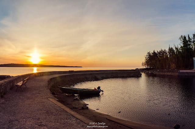 Рассвет и закат на Ладоге