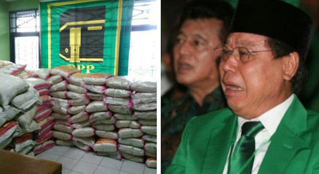 Miris, Kantor PPP Disegel Karena Menimbun Sembako Diduga Untuk Menangkan Ahok, Akhirnya Baru Bisa Dibagikan Pasca Ahok Kalah