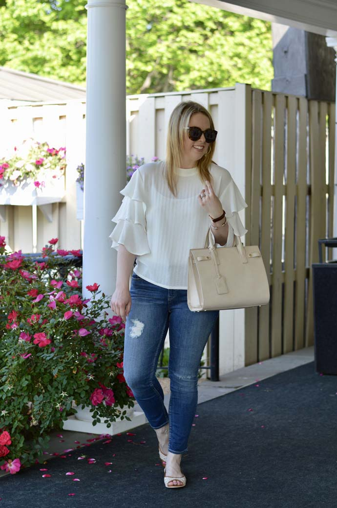 Ruffle Sleeve Top Outfit
