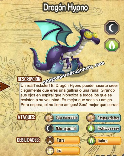 imagen de las caracteristicas del dragon hypno