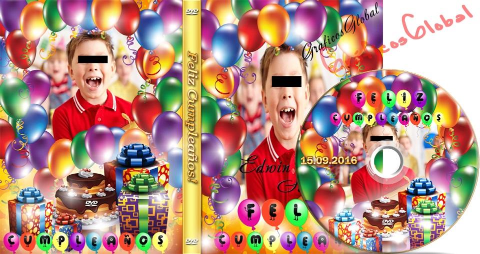 Portada dvd cumpleaños plantillas psd