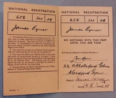 Forged National Registration Identity card of German spy Josef Jakobs.