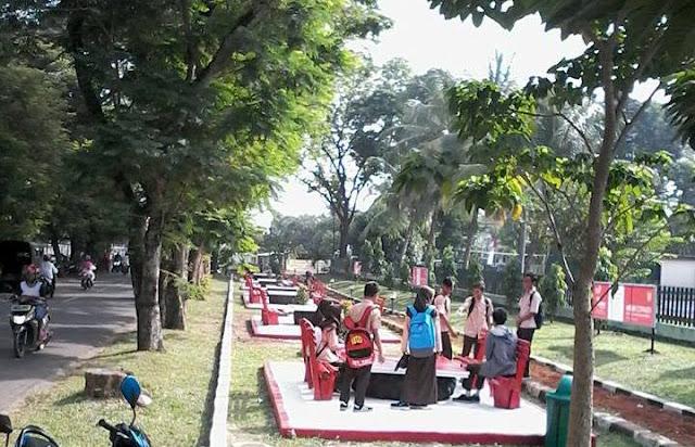 Ada Taman Cantik di  Depan Markas Kodim Subang