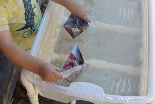 Newspaper paper boats