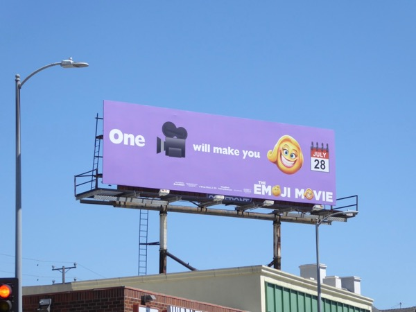 film will make you smile Emoji billboard