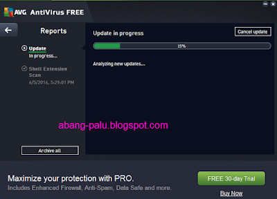 cara update avg secara manual