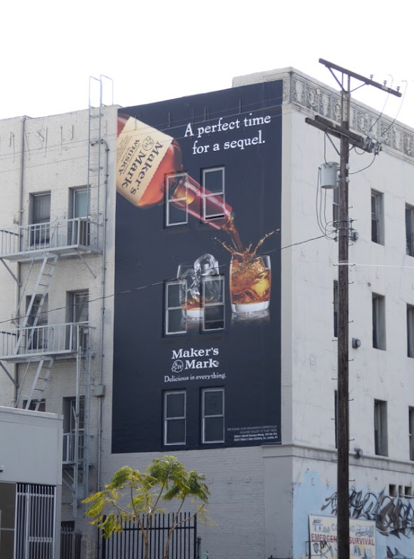 Makers Mark perfect time sequel billboard