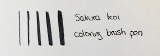 Muestras Sakura Koi brush pen