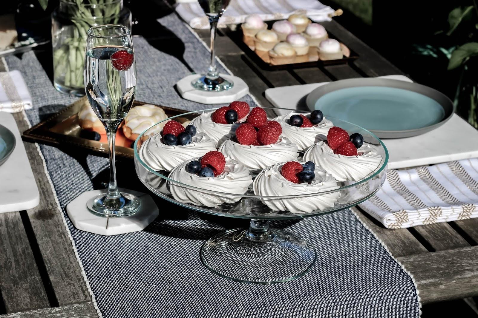 Pretty Food Plate of Meringues