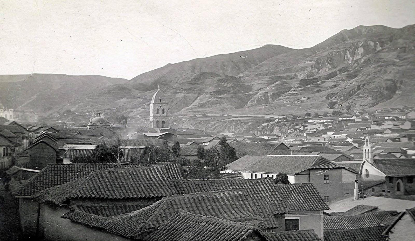 Vista de la ciudad de Cusco sus tejados