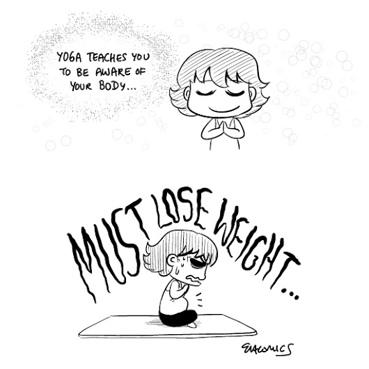 Comics: Losing weight by practicing yoga