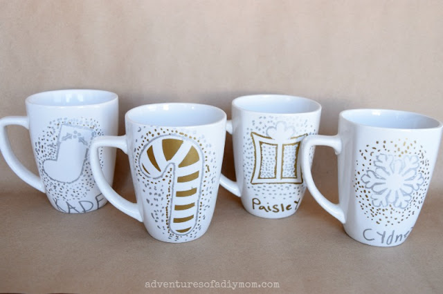 customized christmas mugs with sharpies