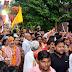 जय गौवर्धन महाराज के जयकारों से गूंजी पदयात्रा... देखे