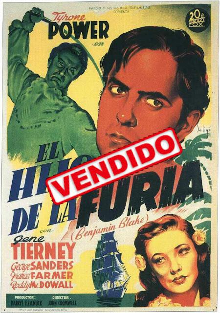 Programa de Cine - El Hijo de la Furia -Tyrone Power - Gene Tierney