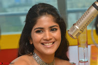 Mega Akash in a sleeveless Off Shoulder Cute Dress Stunnign beauty at Radio Mirchi Promoting Movie LIE ~ Celebrities Galleries 036.JPG