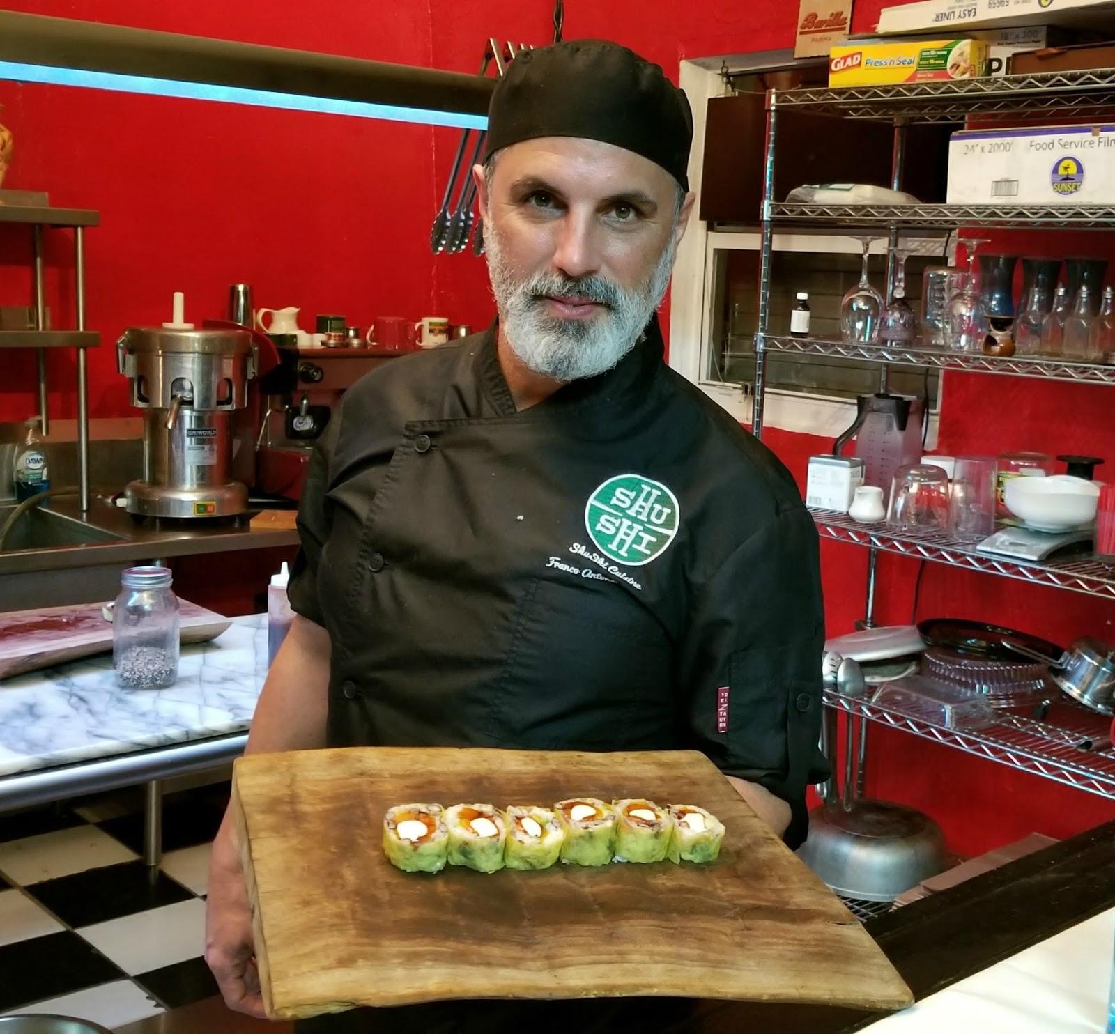 Chef Franco Blanco serves ShuShi rolls House of Food Porn