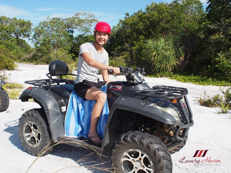 bintan lagoon resort atv single quad bike review
