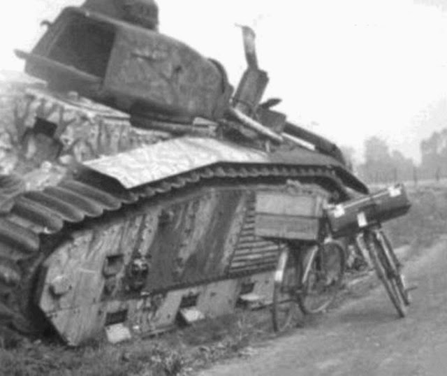 15 June 1940 worldwartwo.filminspector.com Char B1 France tank destroyed