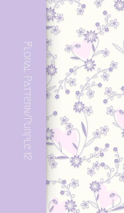 Floral Pattern[Cornflower]/Purple 12