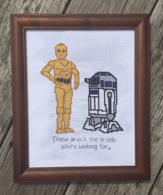 These aren't the droids. Cross Stitch Pattern