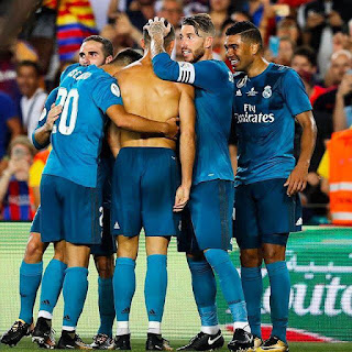 Christiano Ronaldo with his Team mates. PHOTO | AFP