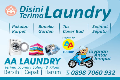 Spanduk Laundry & Cuci Sepatu