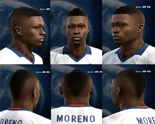 Face Marlos Moreno fix Pes 2013 by Vicen