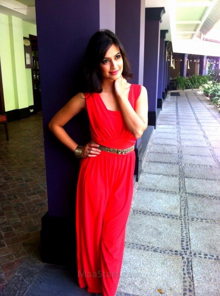 Kriti Kharbanda hot pics in red dressed