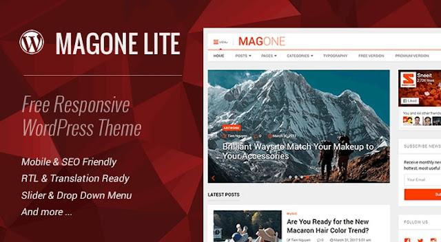 MagOne Lite 1.6 бесплатный шаблон для WordPress