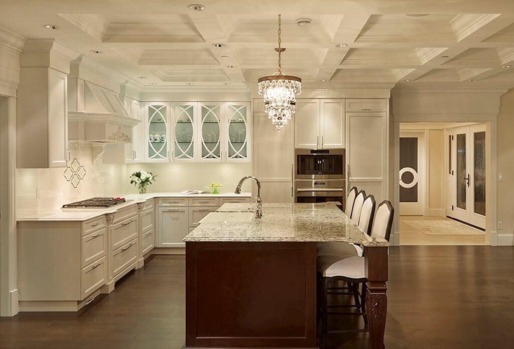 Famoso cocina blanca cl sica bandera ideas para for Ver cocinas amuebladas