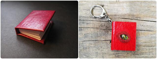 miniaturowe książeczki przed i po