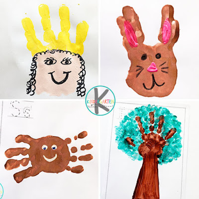 Q is for queen, r is for rabbit, s is for spider, t is for tree alphabet projects for preschool and kinders