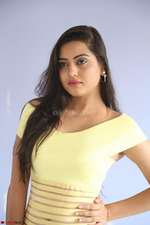 Shipra gaur in V Neck short Yellow Dress ~  058.JPG