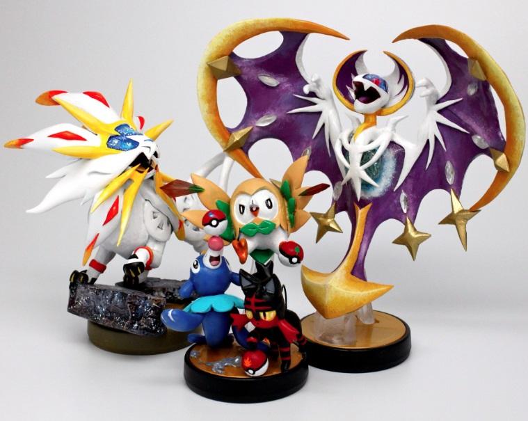 No te pierdas estos amiibo de Pokémon Sol y Pokémon Luna (Fanmade)