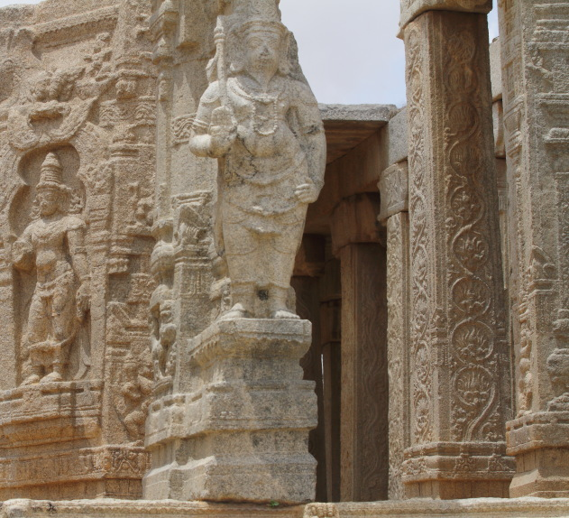 The gorgeous pillars of Veerbhadra Temple, Lepakshi, Andhra Pradesh