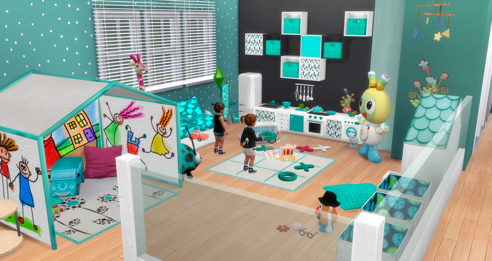 sims 4 cc's - the best: toddler playroom by pqsim4, Badezimmer ideen