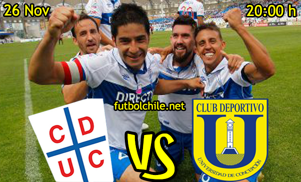 Ver stream hd youtube facebook movil android ios iphone table ipad windows mac linux resultado en vivo, online: Universidad Católica vs Universidad de Concepción